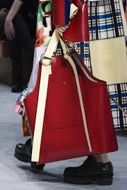 crimson handbag